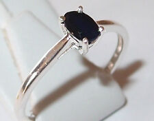 Genuine 0.50ct Diffused Sapphire Solitaire in Sterling Silver, Size Q.