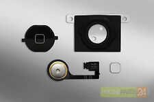 iPhone 4s Home Button Set Flexkabel Taste Metallplättchen Dichtung schwarz