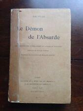 Rachilde LE DEMON DE L'ABSURDE - Mercure de France 1894 démon Poe / Schwob pref