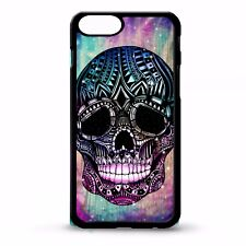 Sugar skull day of the dead aztec tattoo stars tie dye graphic phone case cover
