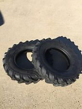 Two 4x8, 400-8 4.00x8 JOHN DEERE Gravely Lug Climb Hills Tubeless Tractor Tires
