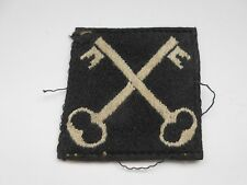 2nd infantry division crossed keys  cloth formation patch    B