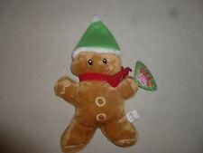NEW W TAG GINGERBREAD MAN CHRISTMAS PLUSH TOY NWT SUGAR LOAF TOYS GAMER GREEN >