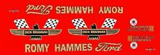 Romy Hammes Ford 1965 Dick Brannan 1/24th - 1/25th Scale Waterslide Decals