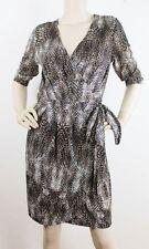 Animal Print Knee-Length Wrap Dresses
