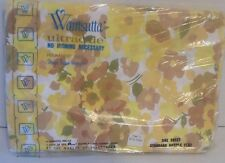 Vintage Wamsutta Ultracale Flower Power Yellow Daisy Full Flat Sheet Mcm
