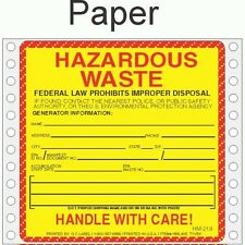 Hazardous Waste Paper Labels HWL405P (PACK OF 500)
