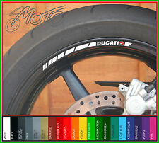 12 X Ducati Rueda Llanta Stickers Calcomanías-Muchos Colores-Monster 848 1198 1098 Evo