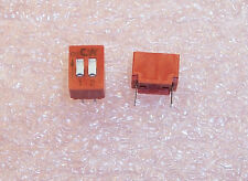QTY (10) BD02 C&K  2 POSITION DIP SWITCH SPST ON-OFF.