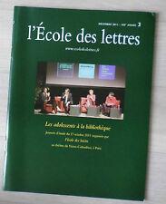L'ecole des lettres n° 6 04/