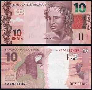 Brazil P 254 - 10 Reais 2010 2012 - UNC
