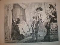 London Sketches - A Waxwork exhibition 1872 print