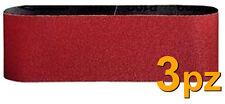 SET 3 NASTRI CARTA VETRATA gr 80 ABRASIVA 100X914 LEVIGATRICE A NASTRO LEVIGA PW