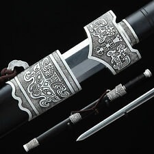 Hand Forge Chinese Sword High Quality Pattern Steel Alloy Fitting