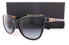 Brand New BVLGARI Sunglasses 8145B 501/8G Black/Grey Gradient For Women Size 55