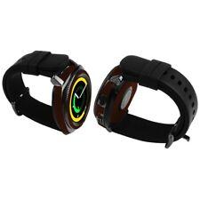 Skinomi Dark Wood Skin+Clear Screen Protector For Samsung Gear Sport