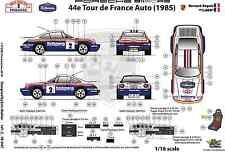 [FFSMC Productions] Decals 1/18 Porsche SCRS Tour de France Auto 1985