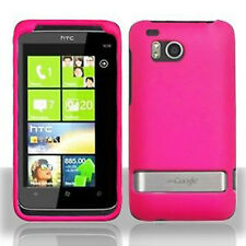 Rubber Hot Pink Hard Case Cover for HTC Thunderbolt 4G