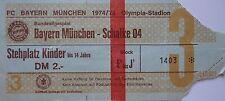 TICKET BL 1974/74 FC Bayern München - Schalke 04