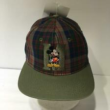 Vintage Disney Mickey Mouse Drew Pearson Plaid Snapback Cap Hat OSFA NWT
