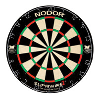 Nodor Supawire 2 Regulation-Size Staple-Free Bristle Dartboard with Moveable and