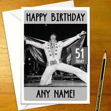Elvis Presley Personalizzato Compleanno Card-Large A5 Rock N Roll IL RE POP