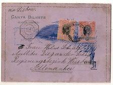 RARE CARTA BILHETE BRASIL CASA DA MODEA  NOVA FRIBURGO TO ALLEMANHA 1898 L317