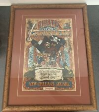 Framed Pirates of the Caribbean Disneyland Art Print - New Orleans Square