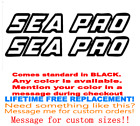 Pair Of 5x28 Sea Pro Boat Hull Decals. Marine Grade. Your Color Choice 163