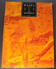 1992 Mazda 323 Hatchback Sales Brochure Folder Excellent Original 92