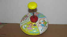 VINTAGE  - CHEIN PLAYTHINGS NURSERY RHYME TIN TOP SPINNING TOY - MADE IN U.S.A