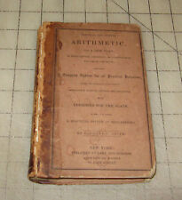 1848 Practical and Mental ARITHMETIC On a New Plan By Roswell C Smith HC Book
