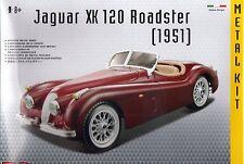 JAGUAR XK 120 ROADSTER DIE-CAST METAL MODEL CAR KIT by BURAGO SCALE 1:24 ~ NEW