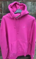 New $70 Size M Champion Reverse Weave Hot  Neon Pink Pigment Dye Hoodie