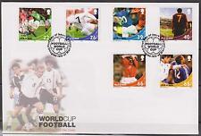GB - ISLE of MAN 2002 Soccer World Cup SG 983/8 FDC FOOTBALL SPORTS
