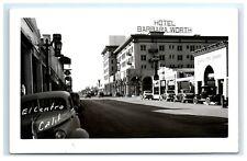 Postcard El Centro, CA - Hotel Barbara Worth Chevy Postal Telegraph RPPC H12