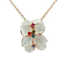 Fashion Jewelry - 18k Rose Gold Plated Flower Necklace (FN069)