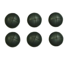 Buttons 6 Classic Leather Buttons 0 23/32in Dark Grey
