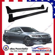 For 2008-2012 Honda Accord 4 Door MOD Style Side Skirts Body Kit Black PP US