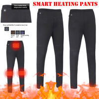 Unisex USB Heated Outdoor Hiking Winter Thermal Trousers Heating Travel Pants