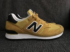 NEW DS $200 NEW BALANCE 670 Made in England UK Sz 9.5 Men Yellow Sneakers Shoes