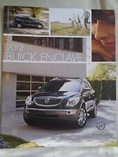 Buick Enclave range brochure 2012 USA market