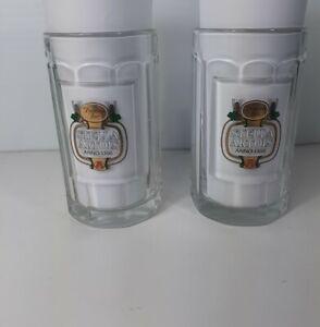 Vintage Stella Artois Handled Heavy Beer Mug Glass Lot x 2/ 0,5L