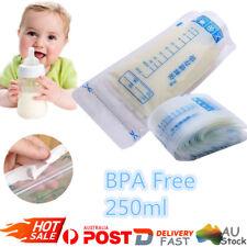 50Pcs 250ml Pre-sterilised Baby Breast Milk Storage Freezing Bags PouchBPA Free