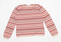 Phase Eight Womens Size 16 Striped Cotton Blend Multi-Coloured Top (Regular)