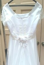 Modern Classic Wedding Dress Unworn Unaltered Bright White Size 20 with Tags