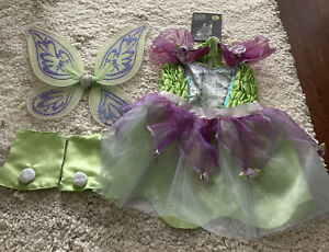 Disney Spooky Nights Tinker Bell Dog Costume With Wings, Leg Covers Size Large
