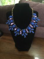New Authentic Leslie Danzis Crystal  Statement Chunky Necklace Runway