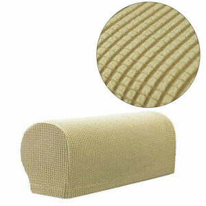 2x Removable Arm Stretch Sofa Couch Chair Protectors Armchair Covers Armrest Set