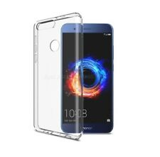 Clear Silicone GEL Case Cover Glass Screen Guard for Huawei Honor 8 Phone